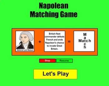 Napoleon Match Game - Bill Burton