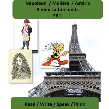 Napoléon (1) / Molière (2) / Astérix (3) / mini thematic units FR 1
