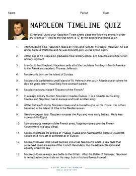 Napoleon Tweets Classroom Activity