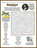 NAPOLEON BONAPARTE Word Search Puzzle Worksheet Activity
