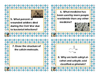Napoleon's Buttons Chapter 10 Task Cards - Wonder Drugs