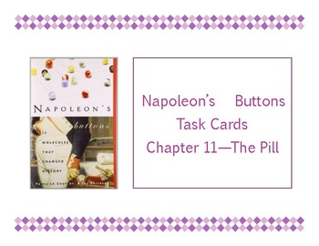Napoleon's Buttons Chapter 11 Task Cards - The Pill