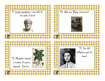 Napoleon's Buttons Chapter 12 Task Cards - Molecules of Witchcraft