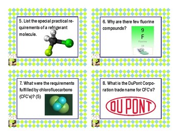 Napoleon's Buttons Chapter 16 Task Cards - Chlorocarbon Compounds
