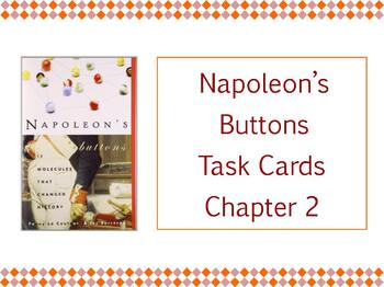 Napoleon's Buttons Chapter 2 Task Cards