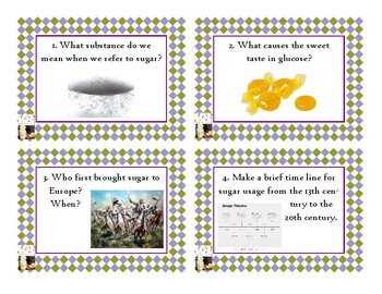 Napoleon's Buttons Chapter 3 Task Cards - Glucose
