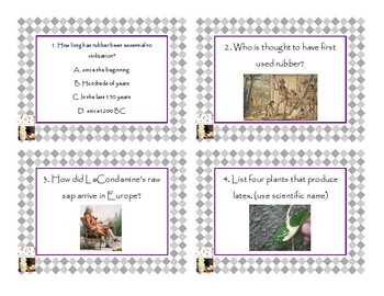 Napoleon's Buttons Chapter 8 Task Cards