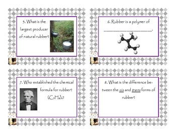 Napoleon's Buttons Chapter 8 Task Cards - Isoprene