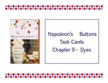 Napoleon's Buttons Chapter 9 Task Cards