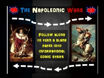 Napoleonic Wars Comics: 20 follow-along slides for students to create their own