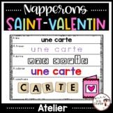 French Valentin Word Work Mats /Napperons - Saint-Valentin - Mots de vocabulaire