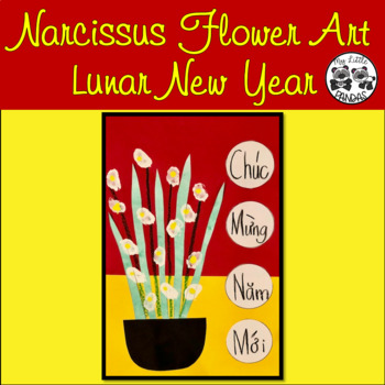 Narcissus Flower Art for Lunar New Year