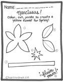 Narcissus Flower-Cut and Paste!