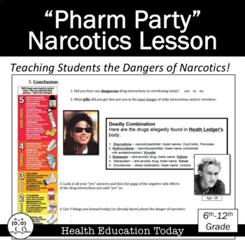 Health Lesson: Narcotics Pharmaceutical Party Activity