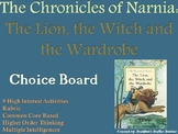 Narnia: The Lion, the Witch and the Wardrobe Choice Board Novel Study Menu
