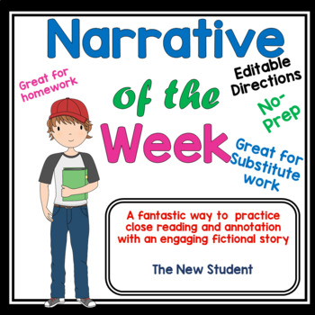 Narrative Article of the Week #1- Article- Close Reading Middle Grades