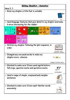 Narrative Chapter Editing Checklist (Visuals)