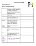 Narrative Checklist - Peer Revision or Revise your own story!