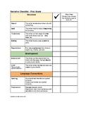 Narrative Self Assessment Checklist and Goal Setting: Grade 1