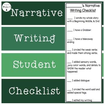 Narrative Checklist/Rubric
