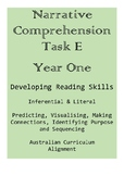 Narrative Comprehension Task E - Year One