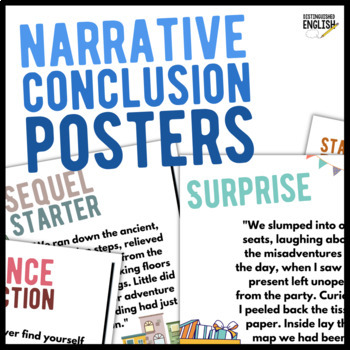 Narrative Conclusion Posters for Writing with Closure