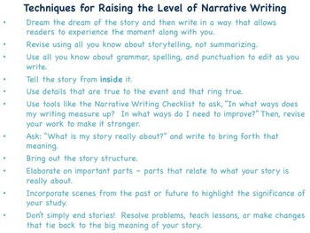 Narrative Craft - Catching the Action or Image that Produced the Emotion
