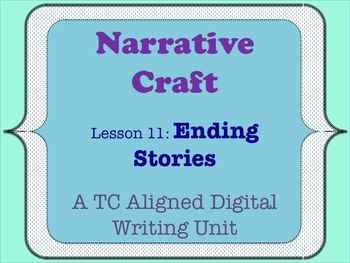 Narrative Craft - Ending Stories
