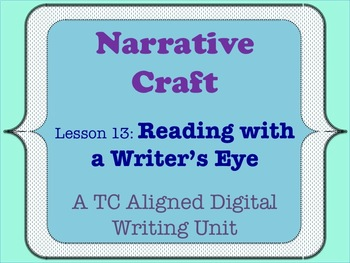 Narrative Craft - Reading with a Writer's Eye