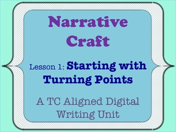 Narrative Craft - Starting with Turning Points
