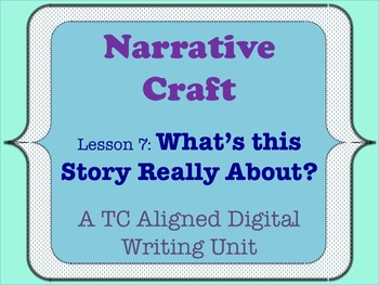 Narrative Craft - What's this Story Really About?