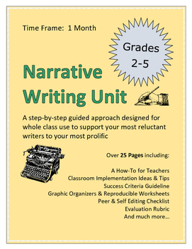 Narrative Writing Step-By-Step Student Booklet