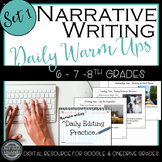 Narrative Daily Editing Practice Set 1:  Google Classroom & One Drive