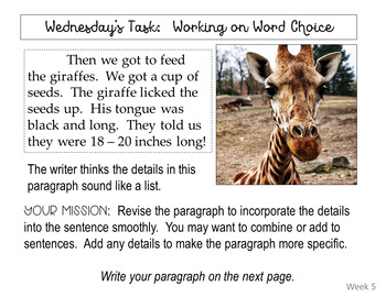 Narrative Daily Editing Practice Set 2:  Google Classroom & One Drive