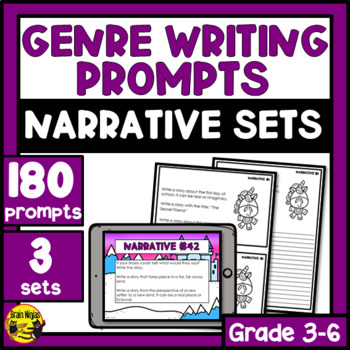Daily Narrative Writing Prompts - All 3 Sets