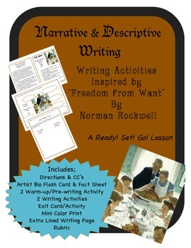 Narrative & Descriptive Writing Activities for Rockwell's Freedom From Want