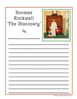 Narrative & Descriptive Writing Activities for Rockwell's The Discovery