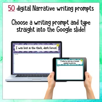 Narrative Digital Writing Prompts for Google Drive®