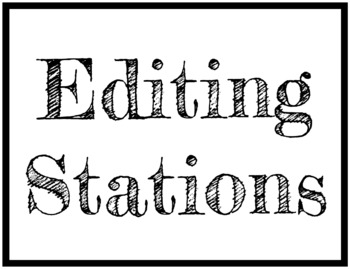Narrative Editing Stations