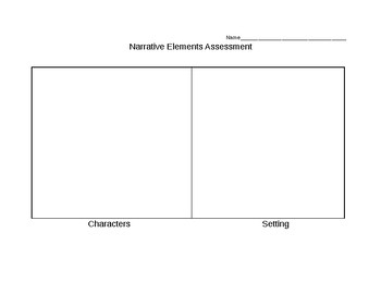 Narrative Elements Assessment