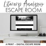 Narrative Elements Escape Room (Breakout) for Grades 9-12