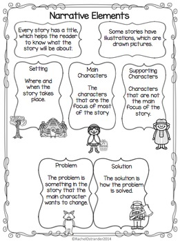 Narrative Elements Introduction with Reader's Response Tic-Tac-Toe & Rubrics
