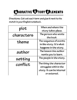 Narrative Elements Matching for