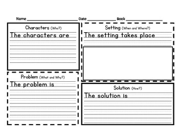 Narrative Elements with Sentence Frames