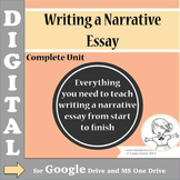 Narrative Essay DIGITAL - Complete Unit - Distance Learning