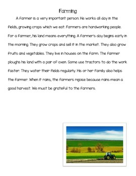 Writing Prompt - Farming Narrative Writing Prompt