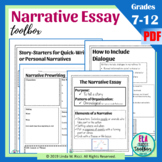 Narrative Writing for Middle School: Graphic Organizers, Writing Prompts