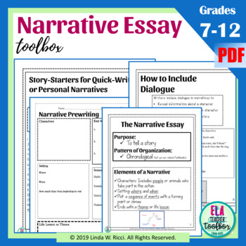 Narrative Writing For Middle School Worksheets & Teaching
