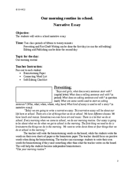 Narrative Essay: Our Morning Routine at School
