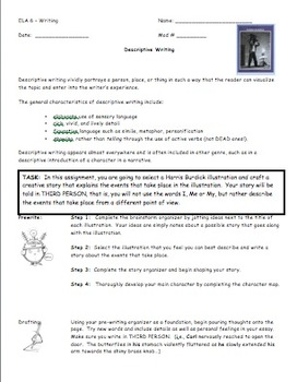 Narrative Essay Overview and Rubric
